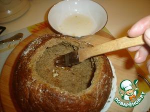 Грибной суп в булке – кулинарный рецепт