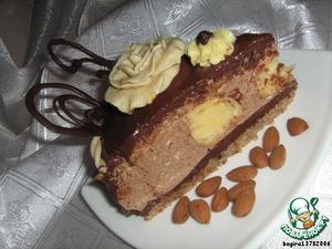 Достаем из холодильника готовые конфетки и выкладываем их на торт. Дополнительно я решила украсить торт мастикой и шоколадом. Шоколадные рисунки приготовила накануне, а мастику сделала по рецепту поваренка Подсолнушек http://www.povarenok .ru/recipes/show/211 93/.  Спасибо за рецепт!