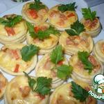 Тарталетки с сыром и беконом