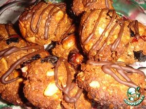 Готовое печенье полить растопленным шоколадом.      Приятного аппетита!