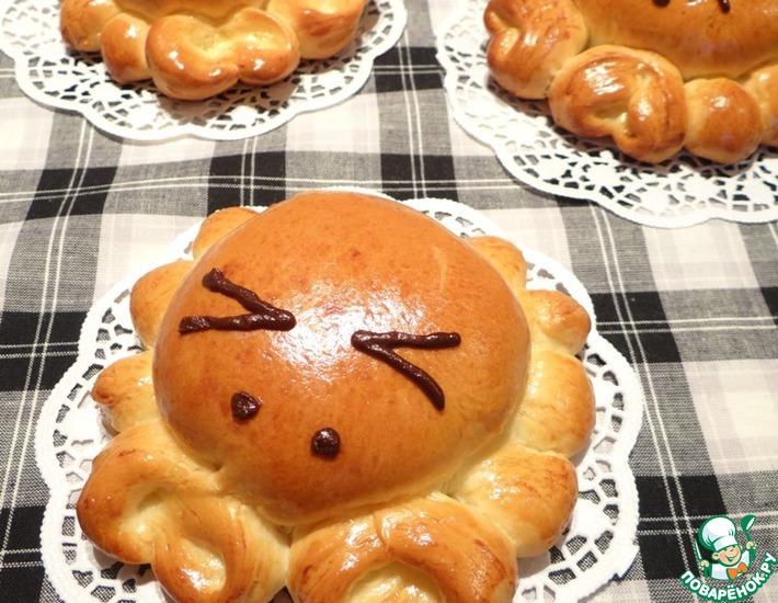 Рецепт: Пирожки Крабики с творогом и сушеной клюквой