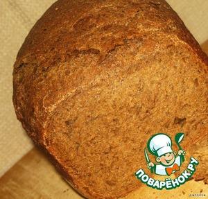 Загрузить ингредиенты в ведерко хлебопечи в порядке, согласно инструкции.   Режим:Basic Bake (Основная выпечка)   Подогрев: 30-60 мин.   Замес: 15-25 мин.   Подъём: 2ч.15мин.   Выпечка: 50 мин.   Общее время: 4 часа   Размер: М(средний)   Корочка: M (средняя)   В процессе замеса следить за колобком!      Приятного аппетита!