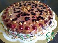 Арахисовый торт с ягодно-ореховой начинкой ингредиенты