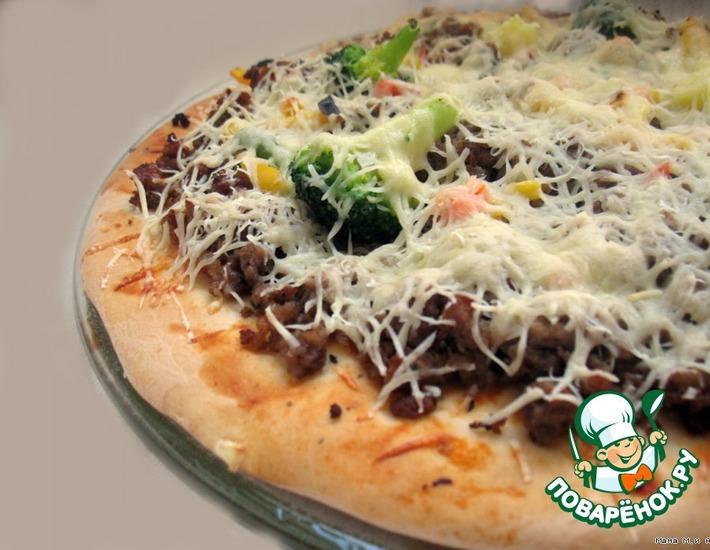 Рецепт: Тесто для тонкой пиццы Как Пицца Хат
