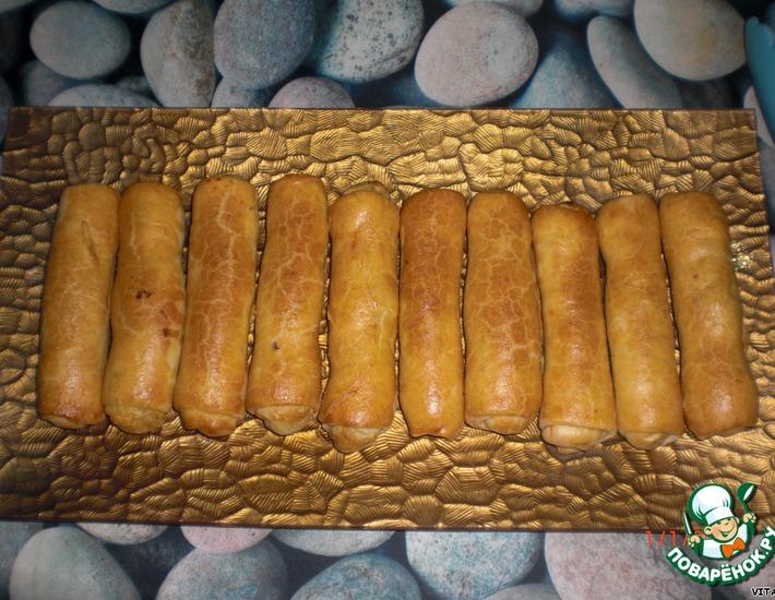 Рецепт: Пирожки с капустой Сигары