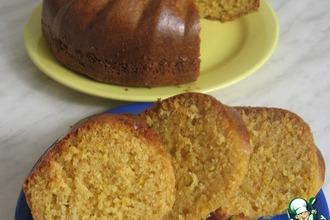 Рецепт: Блестящий лимонно-творожный кекс