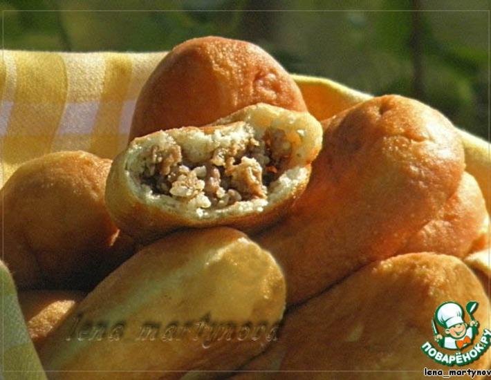 Рецепт: Пирожки из заварного дрожжевого теста