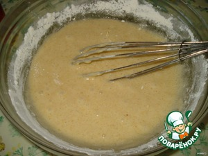 Add the flour and mix thoroughly.