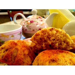 Пасхальные кексы с лимоном и миндалём
