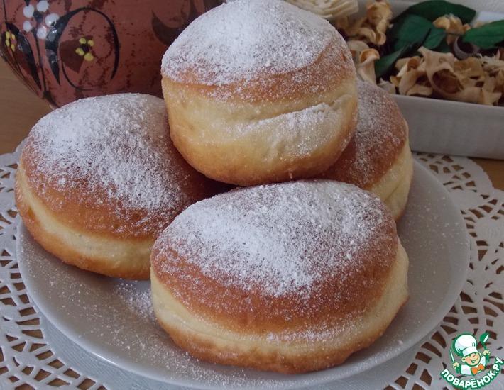 Рецепт: Польские пончики с вареньем