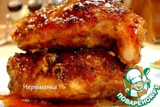 Рецепт: Свиные ребрышки с карамельным соусом