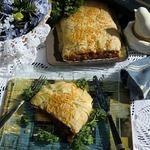 Овощной штрудель с базиликом в тесте фило