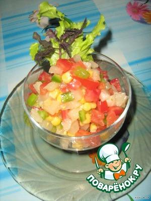 Salad spread in salad bowl.  Bon appetit!