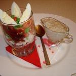 Салат-коктейль Праздничный с соусом из сморчков