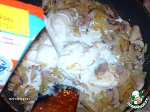 Грибы в сливочном соусе – кулинарный рецепт