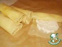 Рулеты из лазаньи с сырной начинкой ингредиенты