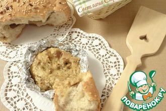 Рецепт: Хлеб Тайник с сырно-грибным соусом