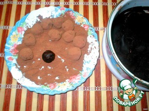 Roll into balls and roll in cocoa powder.