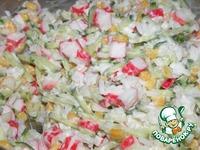 Мамин крабовый салат ингредиенты