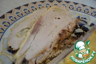 Рецепт: Маринованная куриная грудка в вине с чесноком