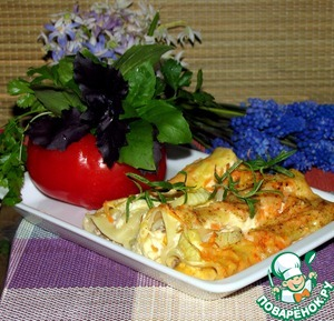 Cannelloni with minced meat and cheese