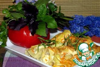 Рецепт: Каннеллони с фаршем и сыром