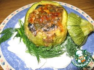 Кабачки круглые, фаршированные грибами – кулинарный рецепт