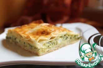 Рецепт: Пирог со шпинатом и сыром фета