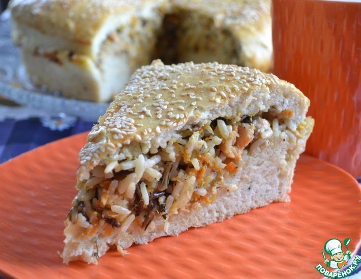 Рецепт: Рыбный пирог на тесте с укропом