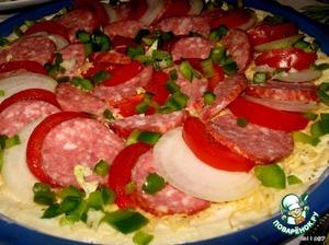 Посыпаем мелко нарезанным болгарским перцем.