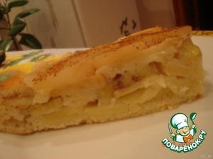 Шарлотка бананово-яблочная – кулинарный рецепт