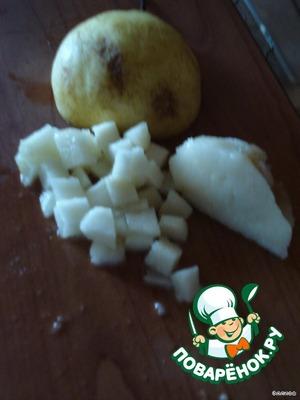 Pear clean, cut into cubes