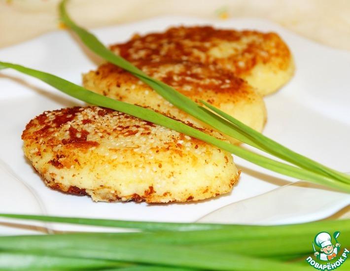 Рецепт: Картофельные зразы с селедкой и луком