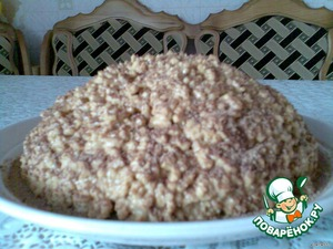 Sprinkle the cake with grated chocolate or cocoa with sugar and put in refrigerator for impregnation. Simple and delicious! Help yourself!