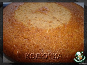 Form I greased with butter and sprinkled with semolina.  Baked the cake 2