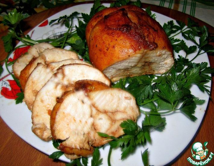 Рецепт: Куриная пастрома с соевым соусом