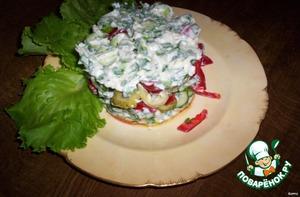- украсить листьями салата или зелени, готово!    Приятного аппетита!