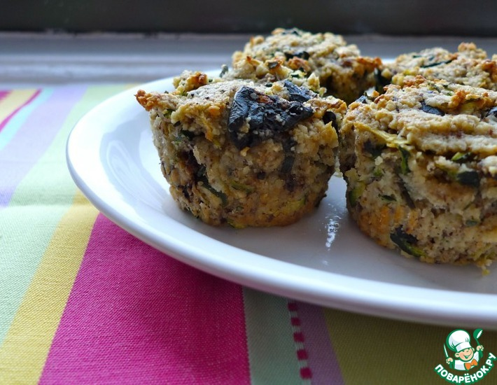Рецепт: Полезные вкуснейшие маффины с кабачком и болгарским перцем