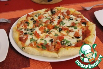 Рецепт: Пицца с салями и перцем пепперони Как в Италии