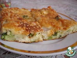 Пирог с брокколи и цветной капустой – кулинарный рецепт