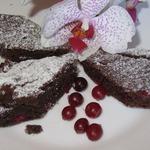 Шоколадка-клюковка (постный пирог)