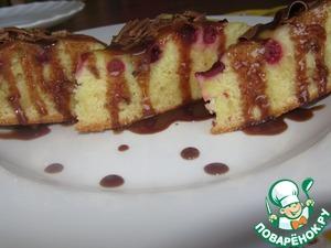 Рецепт Апельсиновый бисквит с ягодами в МультиВарке