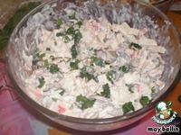 Салат из мидий и кальмаров Морская пучина ингредиенты
