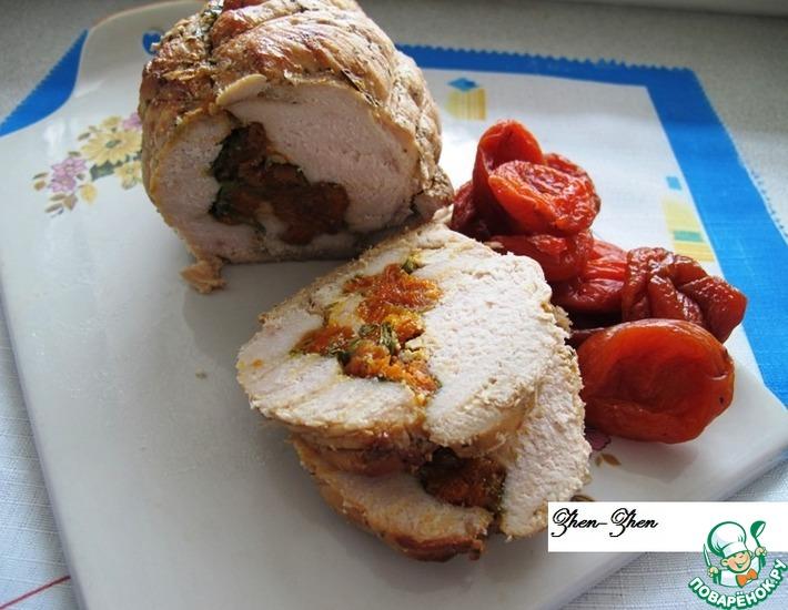 Рецепт: Куриная грудка с курагой