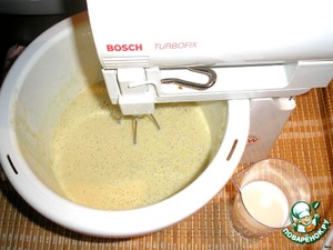 Stir the mixture and carefully beat with a mixer