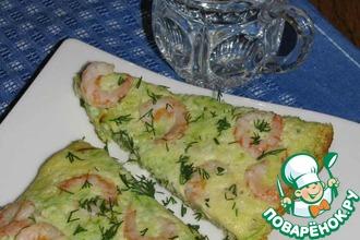 Рецепт: Тортилья с цуккини и креветками