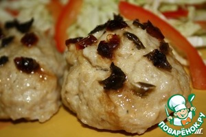 Steam chicken cutlets with Apple