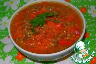 Рецепт: Томатный суп с чечевицей
