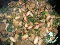 Говядина со шпинатом, грибами и фасолью ингредиенты