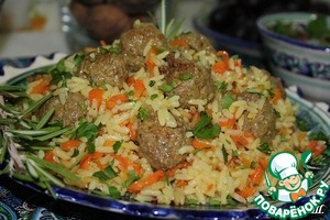Pilaf with meatballs